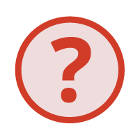 red leading questions icon